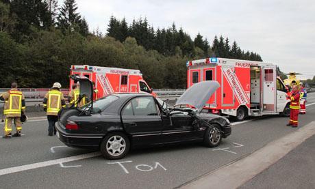 5 verletzte auf autobahn a45 meinerzhagen richtung siegen