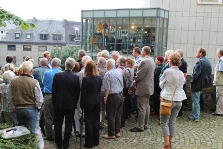Baustellenführung mit Bürgermeister Steffen Mues. Archiv-Foto