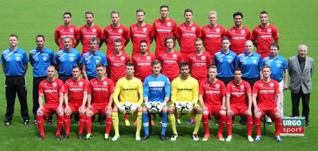 Die Mannschaft der Sportfreunde Siegen in der Saison 2013/14. Foto: wirSiegen.de