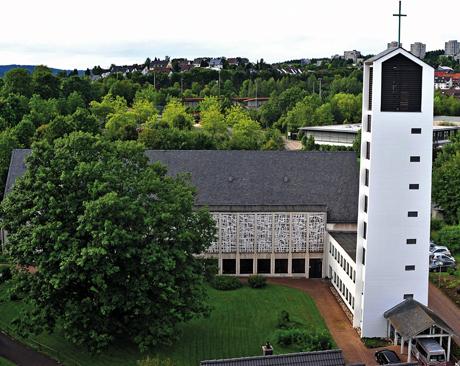 Die Kreuzkirche in Kreuztal.