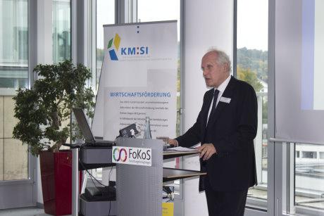 Über globale Verschiebungen bei den Wirtschaftsmächten und der Auswirkungen für heimische Unternehmen referierte Prof. Dr. Robert Kappel, ehemaliger Präsident des Leibniz-Institutes für globale und regionale Studien. Foto: Kreis