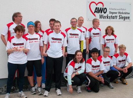 """Neue Laufshirts für das AWO-Laufprojekt """"Lauf Mit"""". Foto: anlauf"""