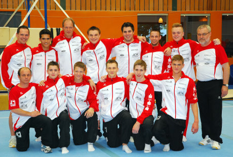 Das Bundesliga-Team der Siegerländer Kunstturnvereinigung ist auf Meisterkurs. Foto: SKV