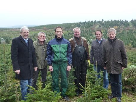 Klaus Kaiser MdL, Georg von Weichs, Bernd Franke, Winfried Franke, Thorsten Schick MdL und Theo Kruse MdL. (v.li.).