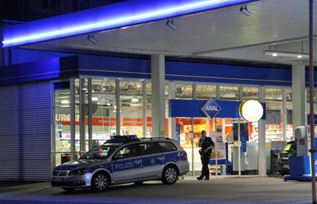 Überfall auf die Tankstelle an der Marienborner Straße am 18. Januar. Archiv-Foto