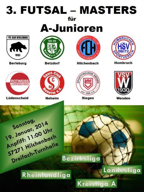 FC Hilchenbach_3. FUTSAL-MASTERS am 19.01.2014_Plakat
