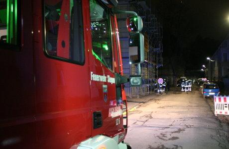 Die Feuerwehr rückte mit 22 Kräften zur Einsatzstelle aus.