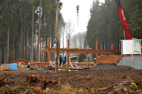 """Im Sommer soll die """"Wisent-Hütte"""" in Betrieb gehen. Fotos (3): Wisent-Welt"""