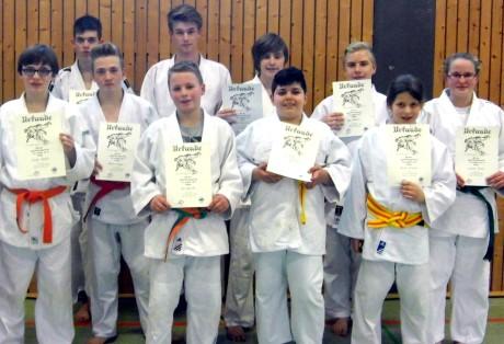 Die erfolgreichen heimischen Judoka von Halver. Foto: Verein