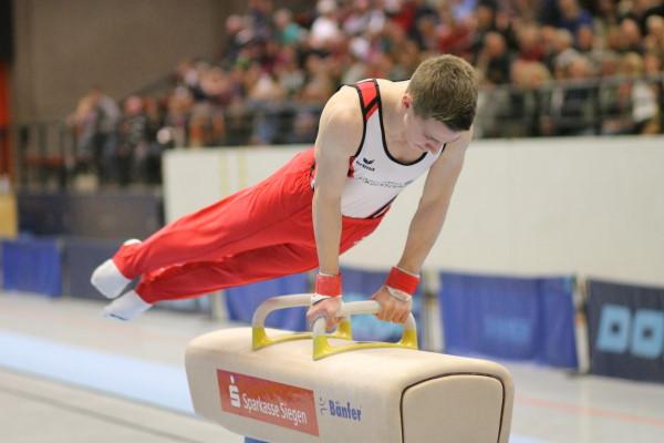 Nico Ermert hielt am Barren zwar gut dagegen, doch die Siegerländer waren hier chancenlos.
