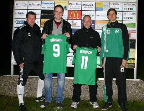 Trainer Stephan Schwarz, Sebastian Klein, Daniel Klöckner und Sven Alpers (Abteilungsleiter Fußball). Foto: Verein