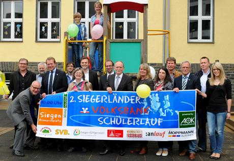 Pressekonferenz zum 2. Siegerländer Volksbank Schülerlauf am 2. Juli 2014.