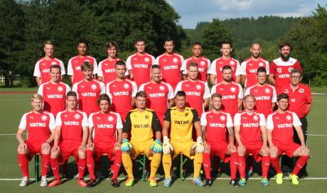 Die Mannschaft des 1. FC Kaan-Marienborn der Saison 2014/2015.