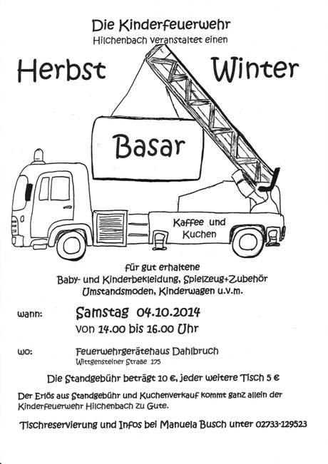 2014-09-09_Hilchenbach_Basar_Kinderfeuerwehr_Plakat_Foto_Stadt_Hilchenbach