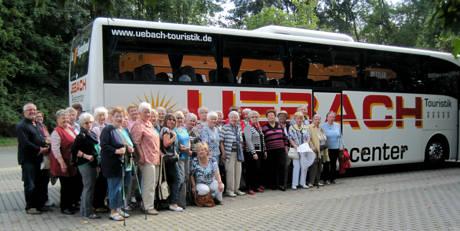 Die Mitglieder des DRK Siegen-Nord während ihres Ausflugs durch das Lahntal.
