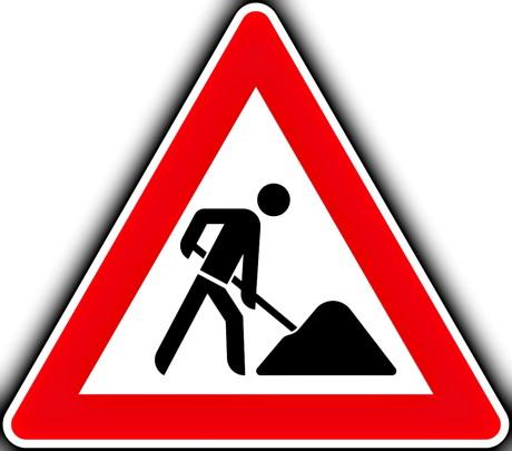 Baustelle_Bauarbeiten_Verkehrszeichen