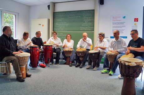 2014-10-07_Siegen_Uni_Trommelgruppe Jambo der Werthmann Werkstätten_Foto_Uni