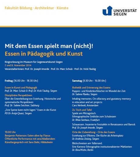 2014-11-05_Siegen_Uni_Eaten alive by Fluxus_Plakat_Uni