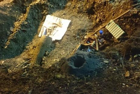 Eine 500 Kilogramm schwere englische Weltkriegsbombe wurde in der Hengsbachstraße in Siegen gefunden. Foto: Privat
