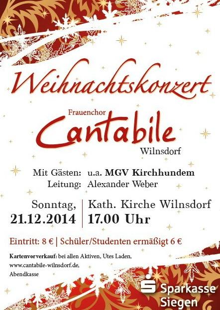 2014-12-14_Wilnsdorf_Weihnachtskonzert_Frauenchor_Cantabile_Flyer_Verein
