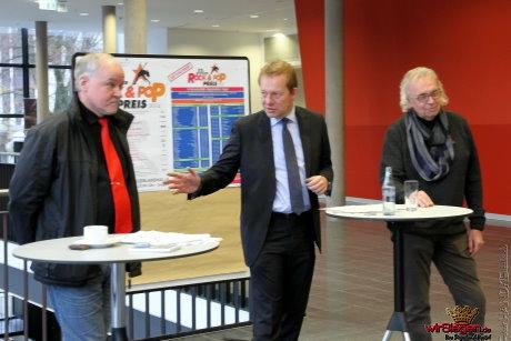 Im Rahmen eines Pressegesprächs erläuterten Friedrich Schmidt, Steffen Mues und Henning Weyl (v.li.) den Ablauf der in Siegen einmaligen Veranstaltung.