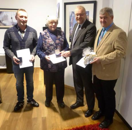 v.l.n.r.: Ralf Hirsch, Anette Sohler, Bürgermeister Walter Kiß, Klaus Kurt Knipp