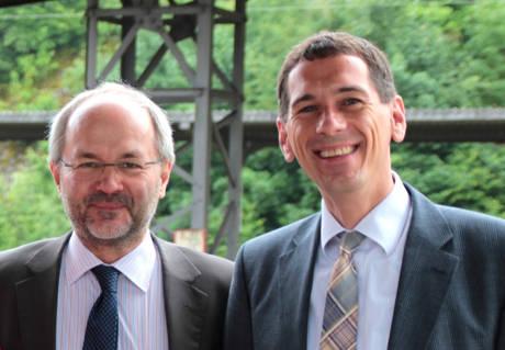 Volkmar Klein (li.) und Jens Kamieth kritisieren die Flüchtlingspolitik der NRW-Landesregierung. Foto: Partei