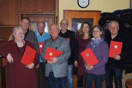 Rita Beims, Willi Brase, Helmut Nölling, Ulrich Jamrowski, Wolfgang Ponwitz, Heike zur Nieden, Ingrid Walder und Sascha Zowierucha (Foto: SPD)