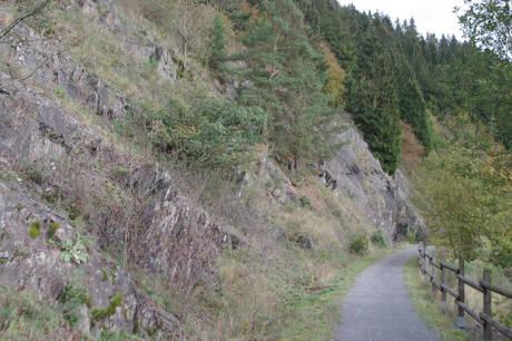 Blick auf die imposanten Felsbereiche im Naturschutzgebiet Honert bei Bad Berleburg-Dotzlar. (Foto: Michael Frede)