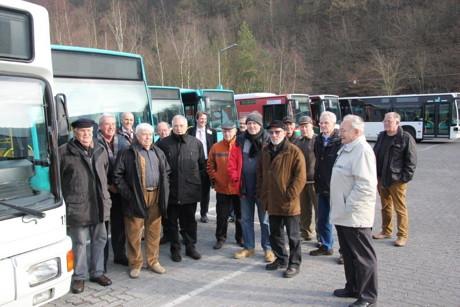 Seniorengruppe Gewerkschaft der Polizei informiert sich über die Arbeit der VWS.