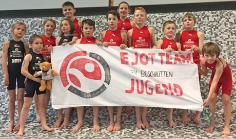 EJOT Kids – Die jüngsten im Team vor ihrem Wettkampf.