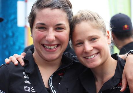 Hanna Philippin (links) und Rebecca Robisch