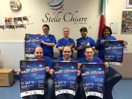 """Der italienische Kulturverein """"Stelle Chiare e.V."""" hat in der vergangenen Woche die 1. Siegener """"notte italiana"""" vorgestellt. (Foto: Verein)"""