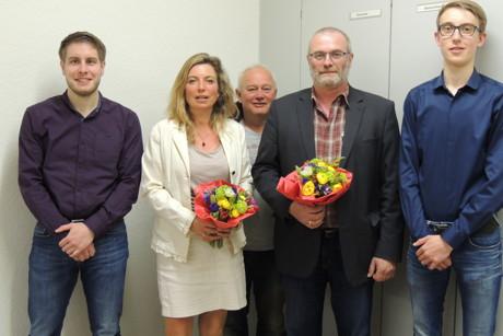 Der SPD-Vorstand 2015: v.l. Michael Kolodzig, Heike zur Nieden, Sascha Zowierucha, Andreas Müller, Julian Maletz (Foto: SPD)