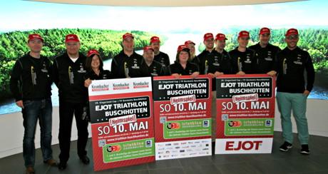 Das Organisationsteam der Triathlon Veranstaltung. (Foto: Verein)