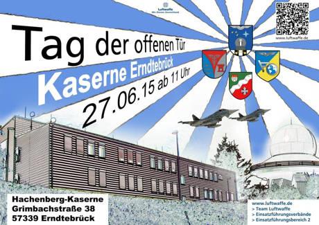 Tag der offenen Kaserne am 27.Juni 2015. (Plakat: Luftwaffe)