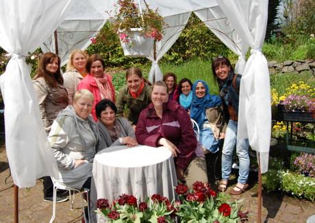Die Ruhe im Garten bot den Frauen einen Ausgleich zum oftmals stressigen Alltag. (Foto: Stadt Siegen)