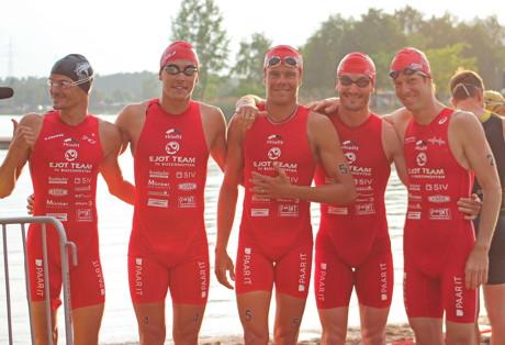 EJOT Team Herren von links nach rechts: Frederic Belaubre, Anthony Pujades, David Hauss, Richard Murray, Sven Riederer.