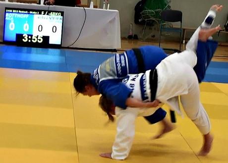 Julia Rotthoff Deutsche Judo-Vizemeisterin der Studierenden. (Foto: Verein)