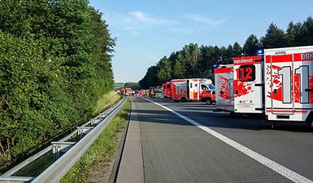 Vollsperrung auf der A45   Foto: © wirSiegen.de