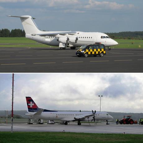 """Auch recht kapitale Passagier-Jets steuern die Lippe an  - wie diese vierstrahlige Avro RJ, auch """"Jumbolino"""" genannt.  (Foto: EDGS)"""