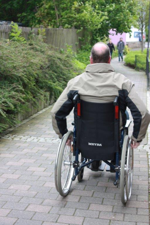 Erste Stadtführung für Menschen mit Handicap in Hilchenbach. (Foto: G.Roth)