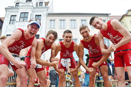 Herren von links nach rechts: Tim Lange, Simon Jung, Felix Weiß, Simon Weiß, André Bauschmann