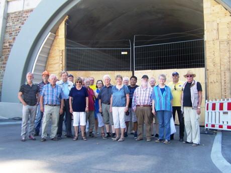 Mitglieder der Siegener SPD-Fraktion besichtigten die HTS-Baustelle in Niederschelden. (Foto: privat)