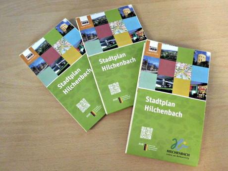 Der neue Stadtplan ist im Foyer des Rathauses, in der Stadtbücherei sowie in der Touristik-Information der Stadt Hilchenbach erhältlich.