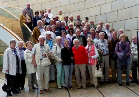 Im Düsseldorfer Landtag empfing Tanja Wagener (SPD-MdL) Mitglieder und Freunde des Pensionärsvereins der Dynamit Nobel. (Foto: privat)