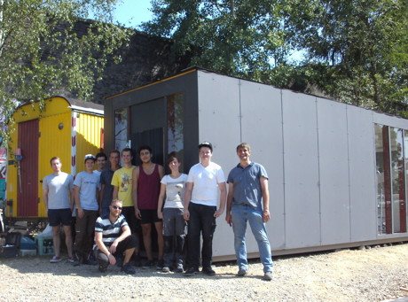 Containerumbau für den RaBauKi e.V. durch Studierende der Universität Siegen. (Foto: Rabauki e.V.)