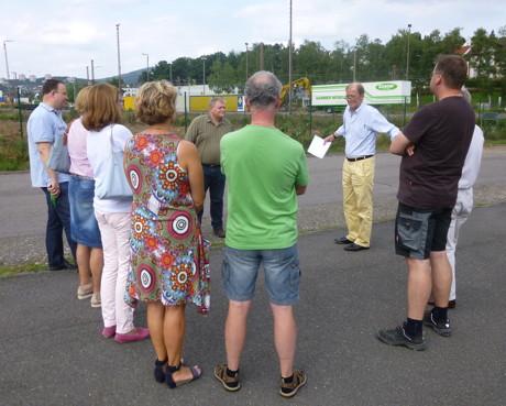 Kreuztaler CDU Ratsfraktion besichtigt Containerterminal Kreuztal. (Foto: privat)