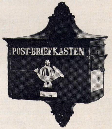 Landbriefkasten der Deutschen Reichspost 1910.