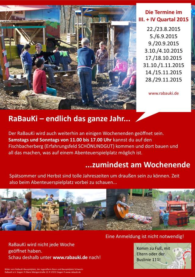 2015-08-29_Siegen_RaBauKi-Wochenendöffnungszeiten starten wieder_Plakat_Rabauki